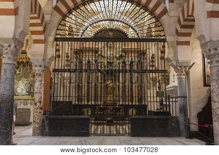 Interior Of Mezquita-catedral, Chapel Of La Sant Ines, Cordoba. Spain, Unesco World Heritage Site, C
