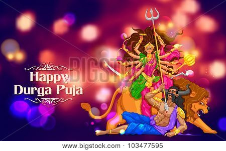 illustration of Happy Durga Puja background