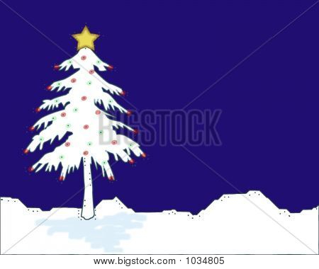 Christmas Tree Dark Blue