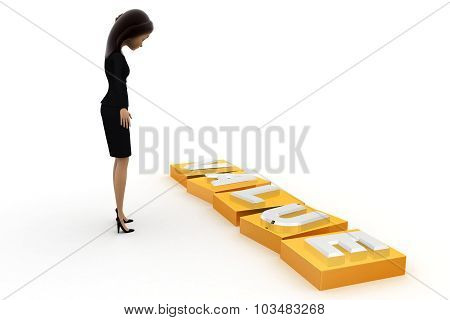 3D Woman Confused About Value Concept