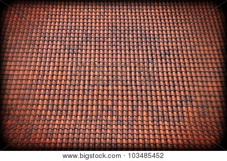 Old Discolored Tiles Roof