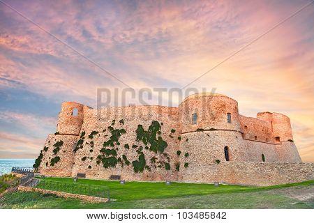Aragonese Castle In Ortona, Abruzzo, Italy