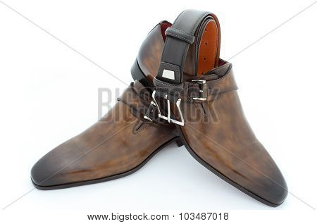 Luxury Leather Shoes And Belt