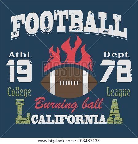 California Sport Typography t-shirt vector