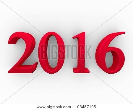 2016 New Year. Text Design