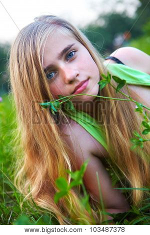 Young Girl In The Garden