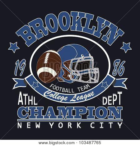 Sport Typography Brooklyn Football