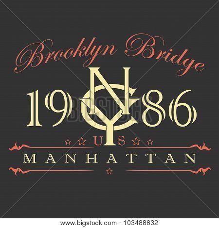 Manhattan t-shirt design