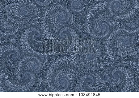 Blue Lacy Abstract Background With Swirly Pattern