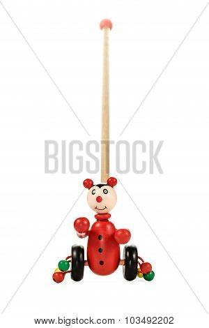 Baby Toy Clown On Wheels