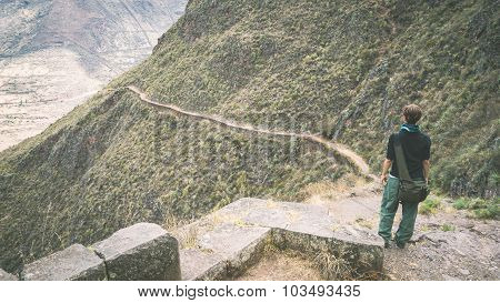 Exploring Inca Trails In Pisac, Peru, Toned Image