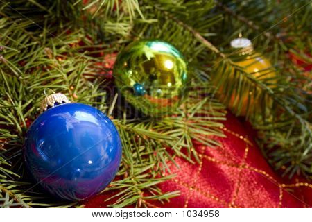 Christmas Ornaments With Douglas Fir
