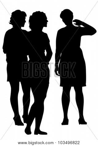 Beauty young girls on white background