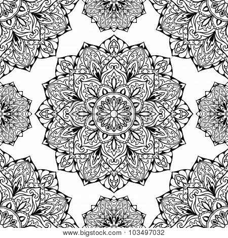 Oriental Black And White Ornament.
