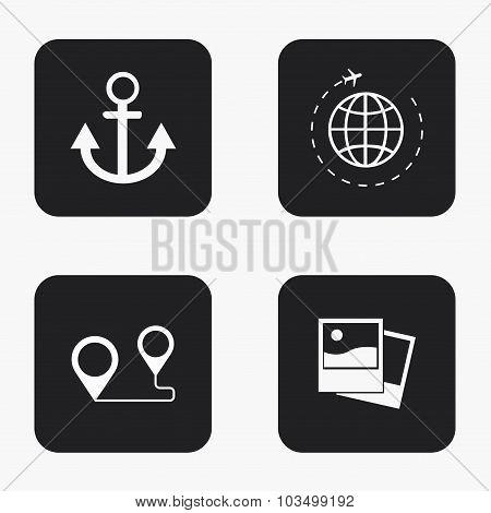Vector modern travel  icons set