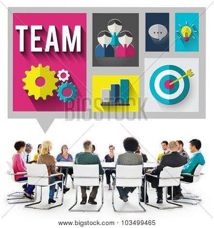Team Teamwork Collaboration Organization Concept