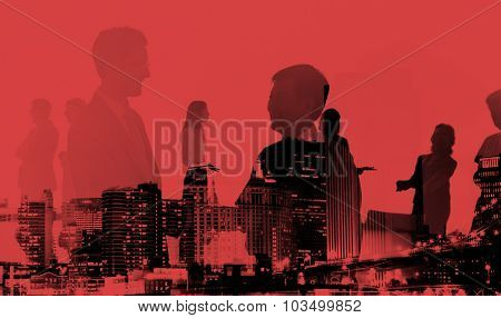 Business People Meeting Discussion Handshake Greeting Concept