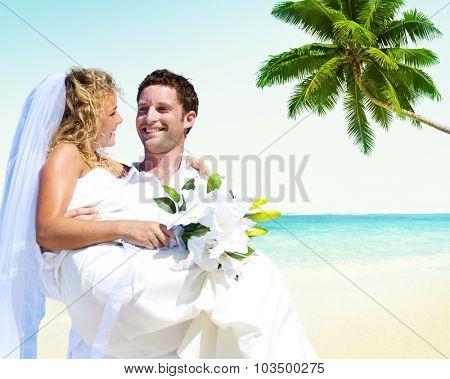 Honeymoon Couple Romantic Summer Beach Concept
