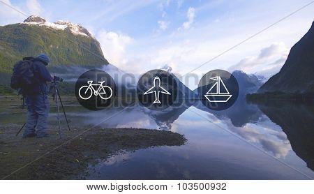 Transportation Transport Icon Travel Journey Trip Concept