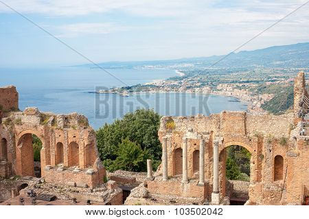 Taormina's Theater In Sicily