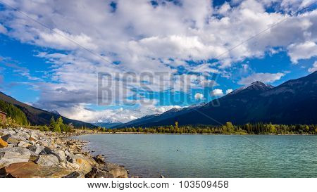 Moose Lake in Mount Robson Provincial Park