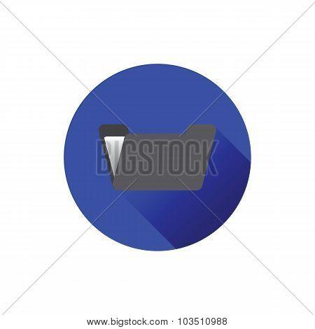 Flat Folder Icon.
