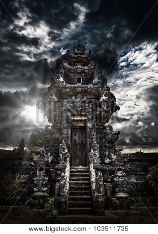 A Temple in Bali Indonesia