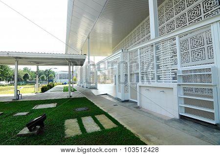 Entrance of Ara Damansara Mosque in Selangor, Malaysia