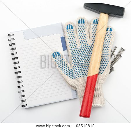 Copy book with hammer