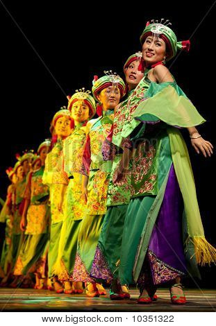 chinese Qiang ethnic dance