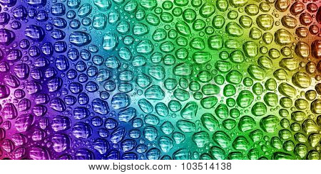 Drops rainbow background.