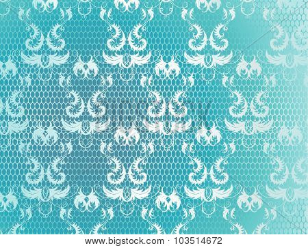 Blue Background With Lace