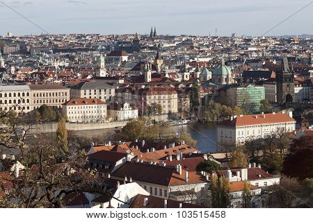 View Of Prague From Prague Castle In Autumn