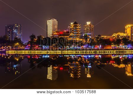 Night View Of Chengdu