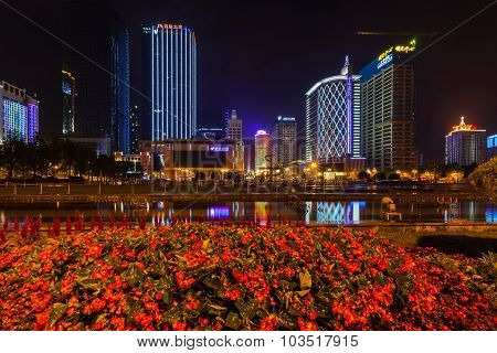 Night View Of Tianfu Square In Chengdu