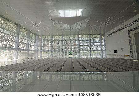 Interior of Ara Damansara Mosque in Selangor, Malaysia