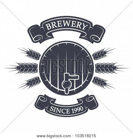 Craft brewing. Vintage emblem.