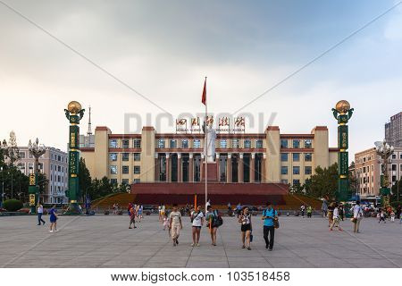 Statue Of Chairman Mao At Tianfu Square