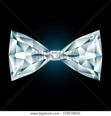 Diamond Bow Tie On Black Background
