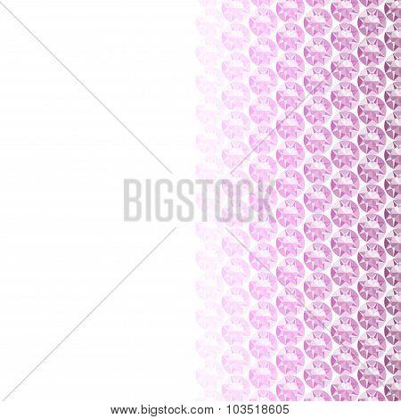 White Background With Diamond Border