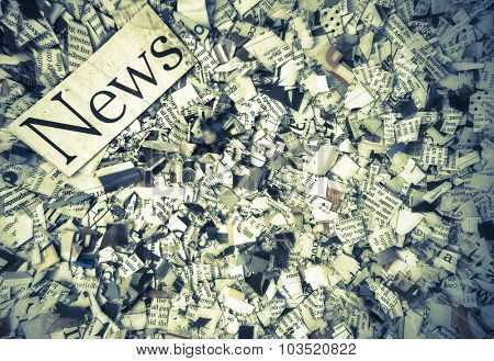 news paper confetti concept