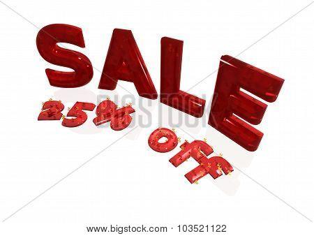 Inscription Sale 25 Percent Off