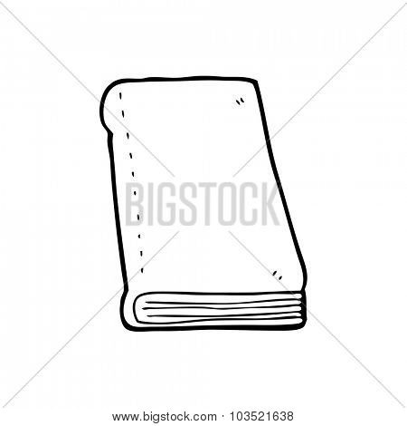 simple black and white line drawing cartoon  book