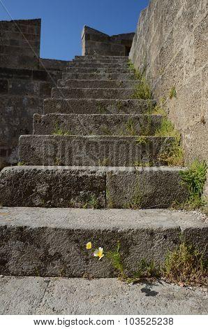 Ruin Of Antique Building In Greece