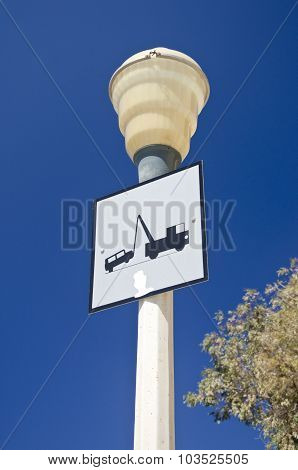 Lamp Post With A Traffic Sign