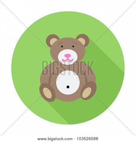 Bear toy icon.