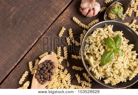 Fusilli With Pesto Sauce