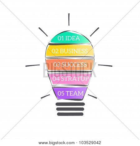 Vector Light Bulb Infographic