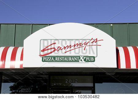 Sammy's Pizza, Restaurant & Pub Sign