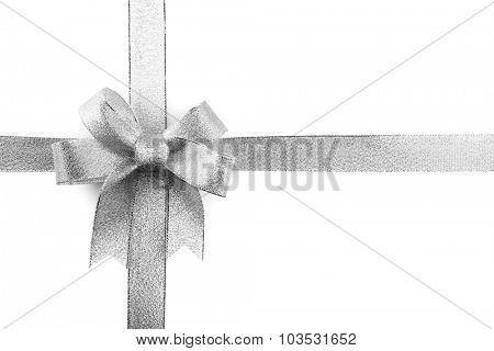 Satin ribbon bow isolated on white